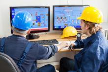 Operators in a control room