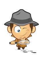Cartoon detective